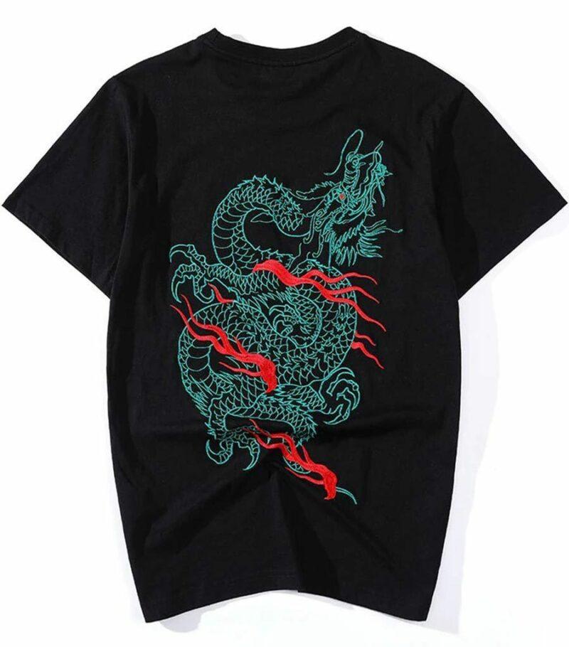 Dragon Tshirt Japanese Akguuhop Organic Cotton