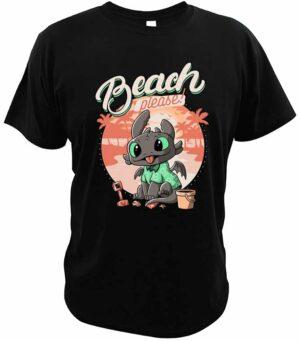 Dragon Tshirt toothless Beach Cotton