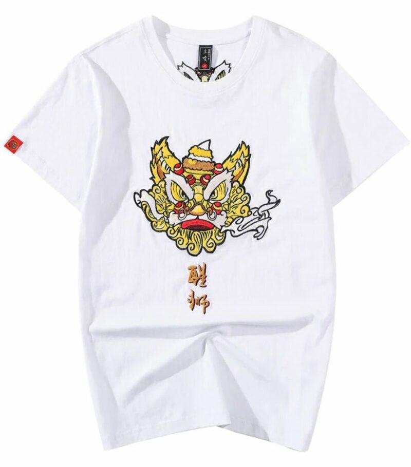 Dragon Tshirt Lion Organic Cotton Design