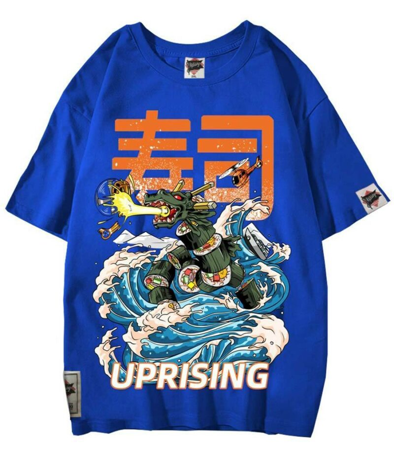 Dragon Tshirt Maki Cotton Streetwear