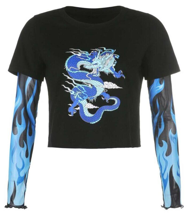Dragon Tshirt Long Sleeves Ecological