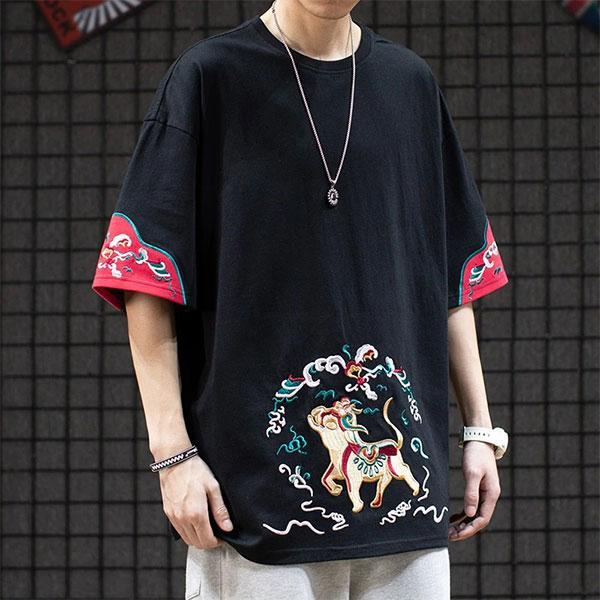 Dragon Tshirt Chinese Mythology Biological Cotton