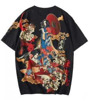 Dragon Tshirt Onna Bugeisha Cotton