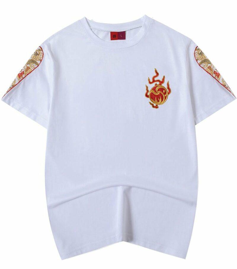 Dragon Tshirt Simplistic Design Flame