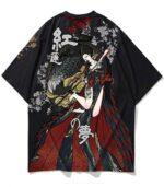 Dragon Tshirt Japanese Streetwear Oriental Art