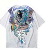 Dragon Tshirt Streetwear Japanese Art