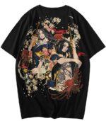 Dragon T-Shirt Ukiyo-e Ecological Streetwear