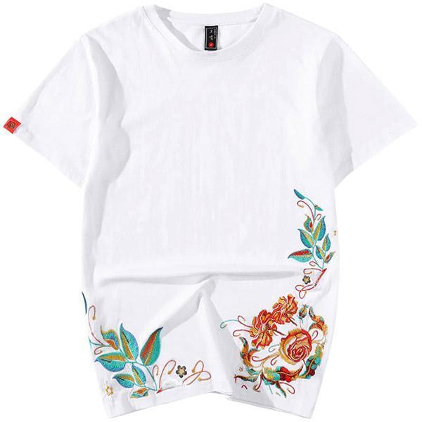 Dragon Tshirt Flowers of Japan