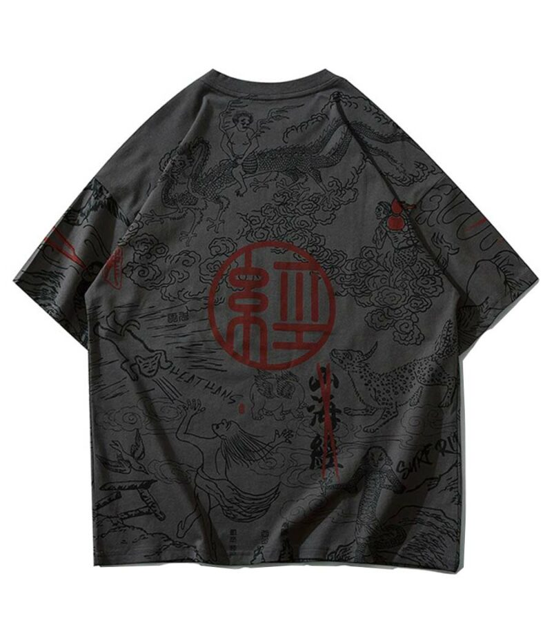 Dragon Tshirt Graphic Japanese Style