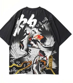 Dragon Tshirt Japanese Crane Streetwear