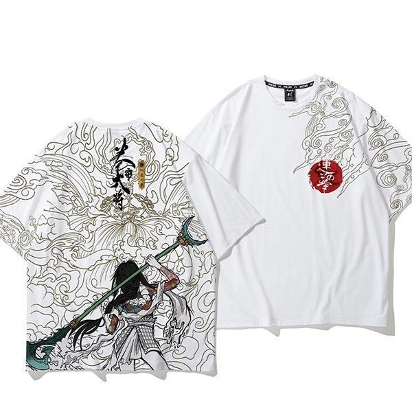 Dragon Tshirt Warrior Woman Biological Cotton