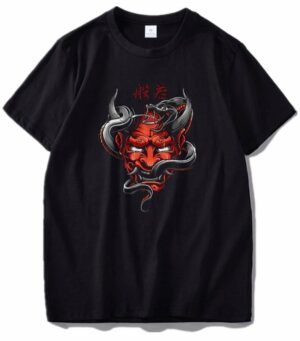 Dragon Tshirt Hannya Cotton Biological