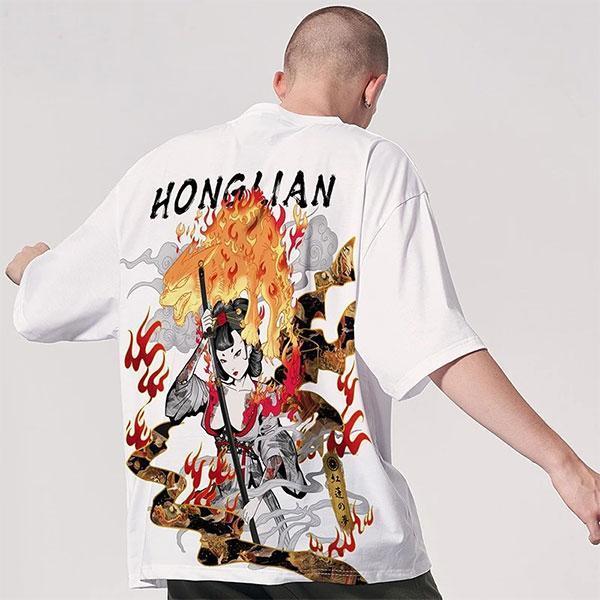Dragon Tshirt Honglian Polyester Outfit