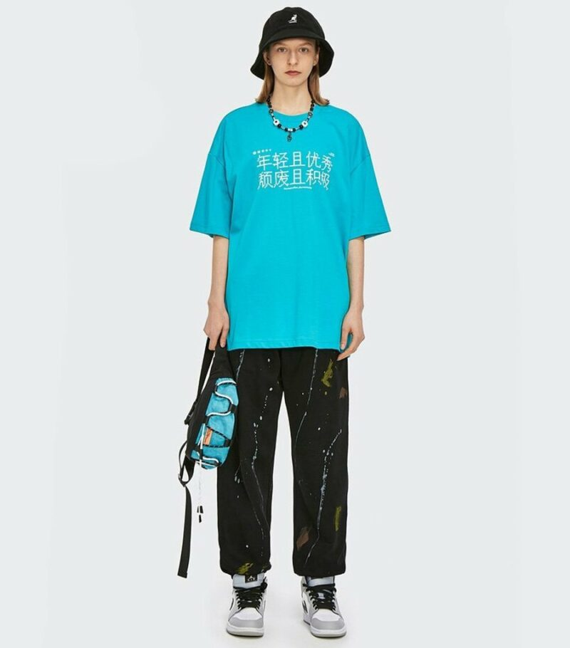 Dragon Tshirt Pixelized Kanji