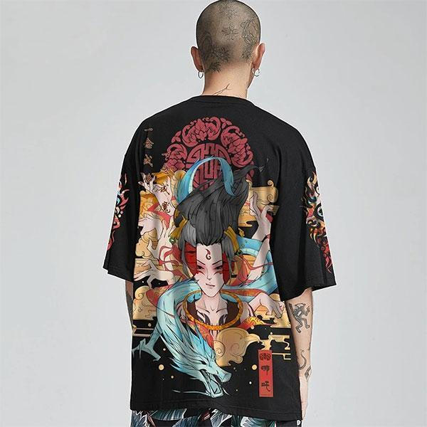 Dragon Tshirt Mantra Cotton Biological