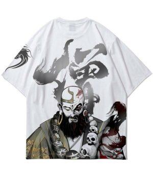 Dragon Tshirt Oriental Monk Streetwear