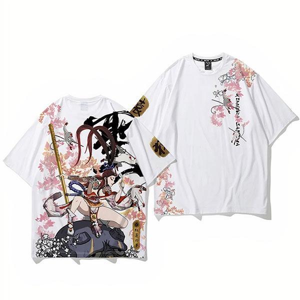 Dragon Tshirt Monkey Queen Polyester Streetwear