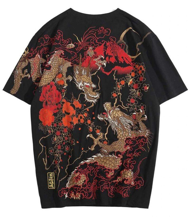 Dragon Tshirt Mount Fuji Cotton