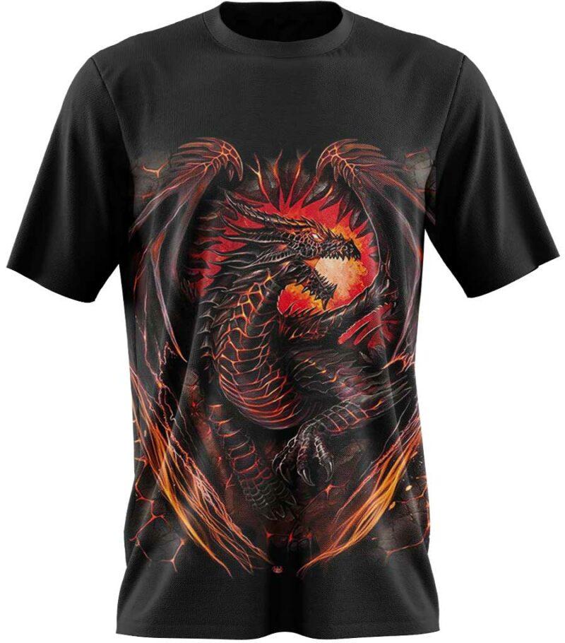 Dragon Tshirt inferno Fire