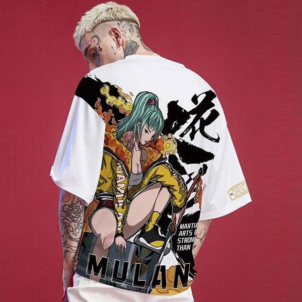 Dragon Tshirt Mulan Streetwear Outfit Art