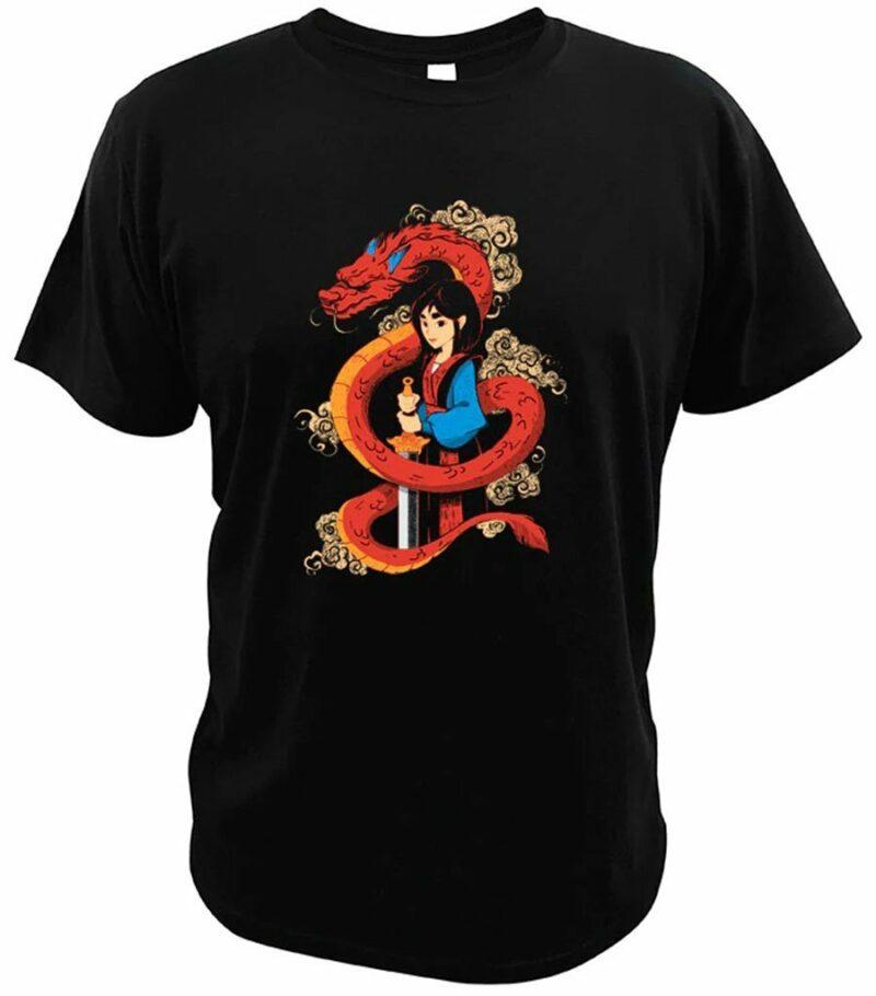 Dragon Tshirt Mushu Mulan Organic Cotton