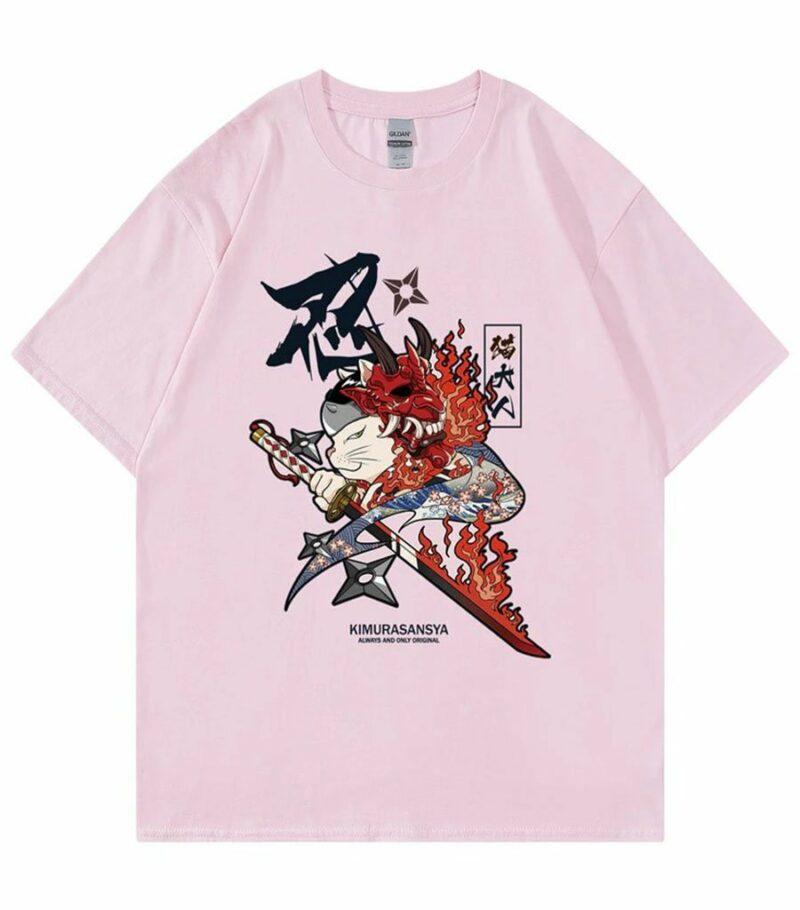 Dragon Tshirt Neko Ninja Style Outfit