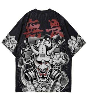 Dragon Tshirt Japanese Oni Streetwear