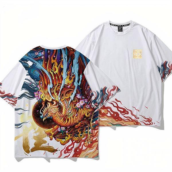 Dragon Tshirt Chinese Phoenix Oriental Art