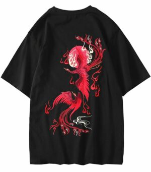 Dragon Tshirt Phoenix Organic Cotton Red