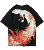 Dragon Tshirt Flamboyant Phoenix Streetwear Art