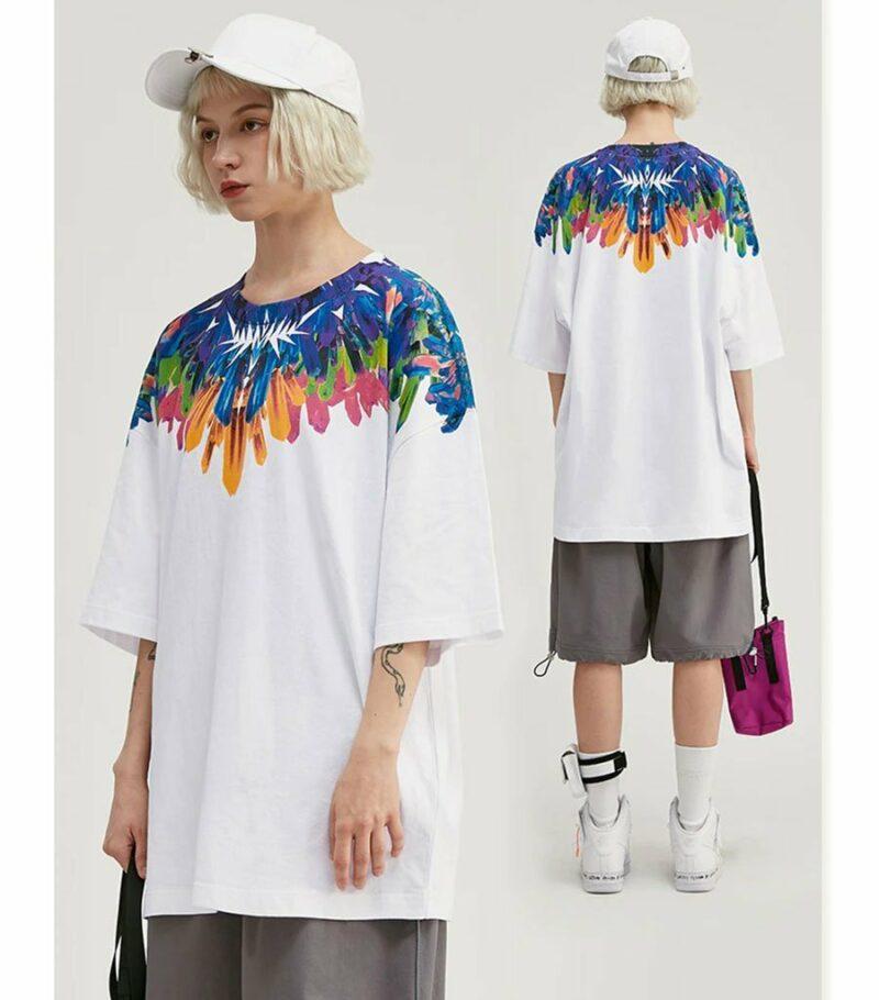 Dragon Tshirt Feather Street Style