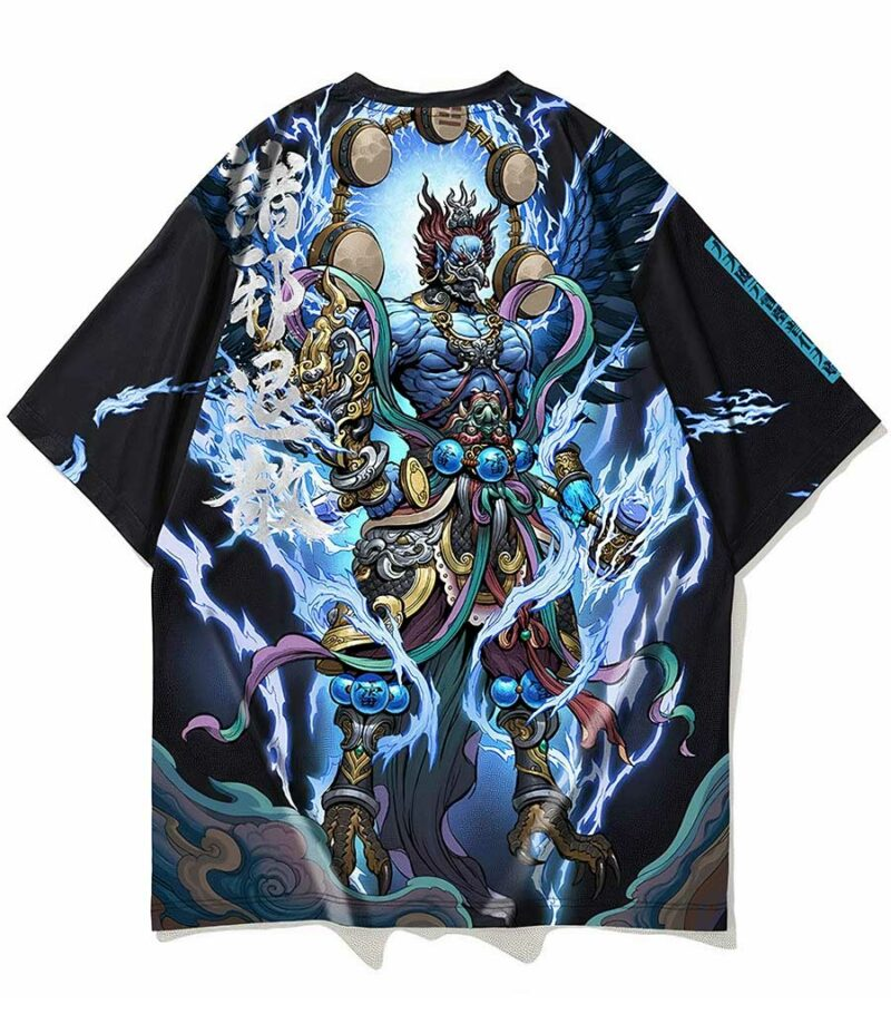Dragon Tshirt Raijin Polyester Streetwear