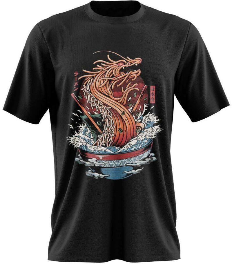 Dragon Tshirt Ramen Black