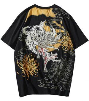 Dragon Tshirt Japanese Fox Streetwear