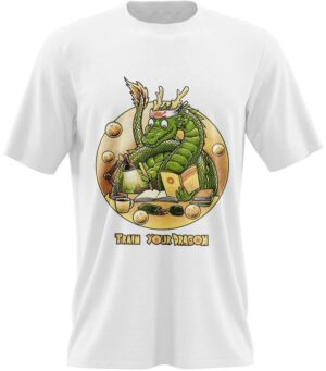 Dragon Tshirt Shenron White