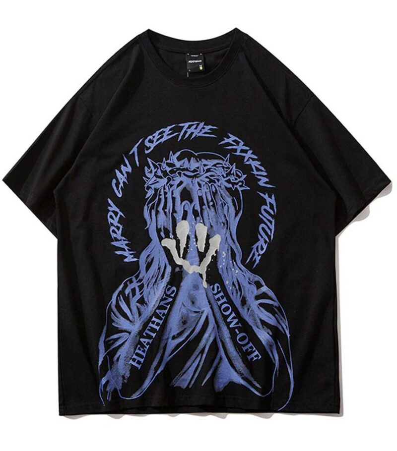 Dragon Tshirt Smile Streetwear Cotton