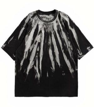Dragon Tshirt Black Tie Dye Biological Cotton