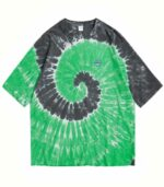 Dragon Tshirt Green Tie Dye Biological Cotton