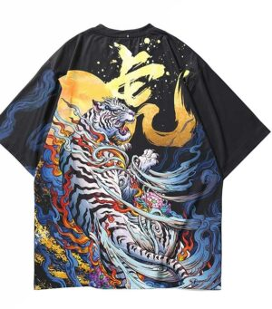 Dragon Tshirt Chinese White Tiger Art