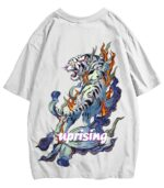 Dragon Tshirt White Tiger Uprising Style
