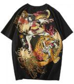 Dragon Tshirt Bengal Tiger Cotton
