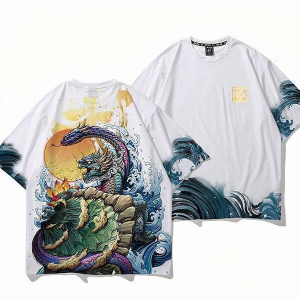 Dragon Tshirt Turtle Polyester Streetwear