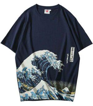 Dragon Tshirt Kanagawa Wave Cotton