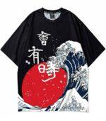 Dragon Tshirt Japanese Wave Biologic Cotton