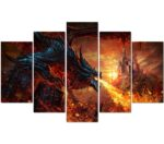 Red Dragon Painting Wall Art