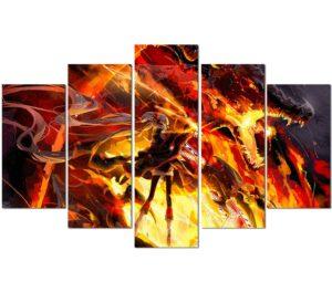 Dragon Painting Anime Wall Art