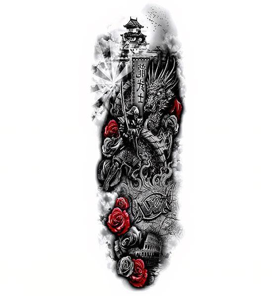 Dragon Ephemeral Tattoo Asian Legacy