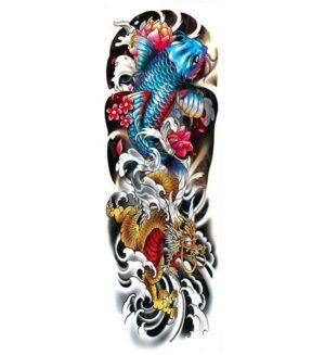Dragon Ephemeral Tattoo Carp Design