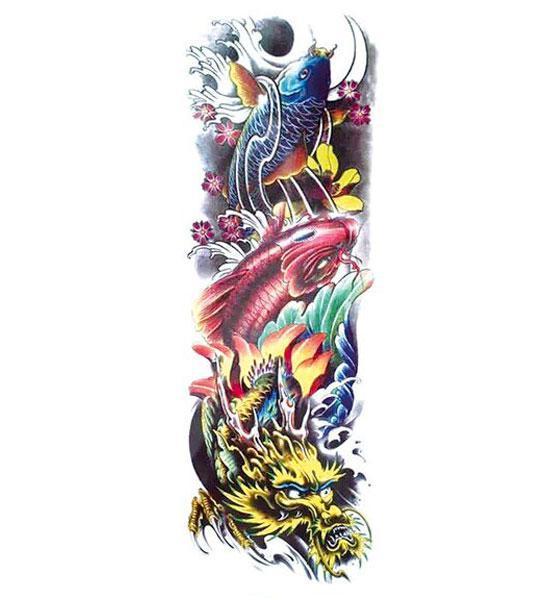 Dragon Ephemeral Tattoo Koi Carp
