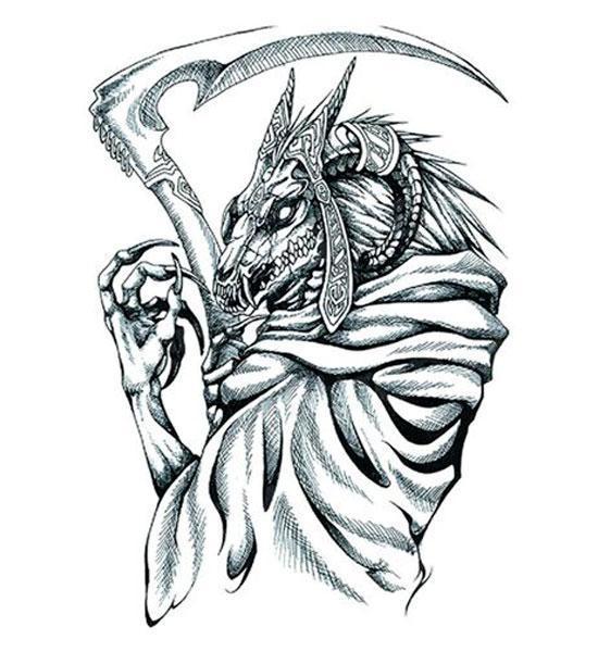 Dragon Ephemeral Tattoo Grim Reaper